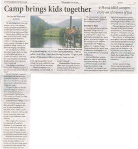 4-H Mountain to Metro Summer Camp
