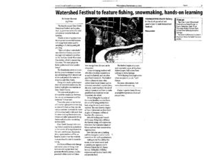 2012 Watershed Festival articles
