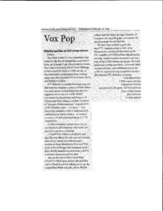 Thank You Letter To Editor