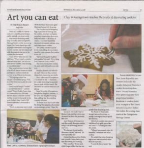 Art you can eat, article about cookie decorating workshop