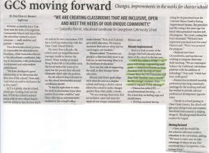 Highlighted section about Georgetwon Community School and STEM programming with robotics as organized by CCC CSU Extension