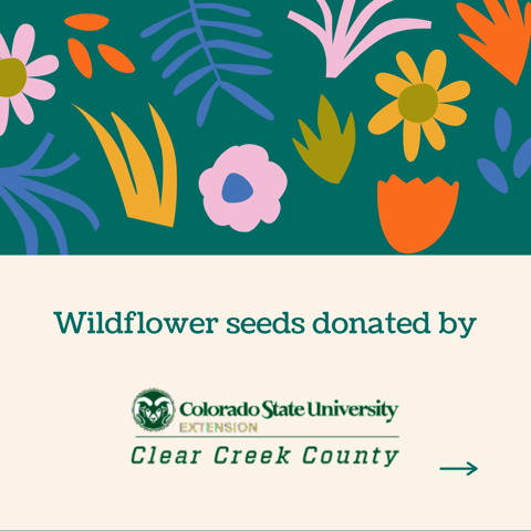 Wildflower seeds donated by Clear Creek County CSU Extension